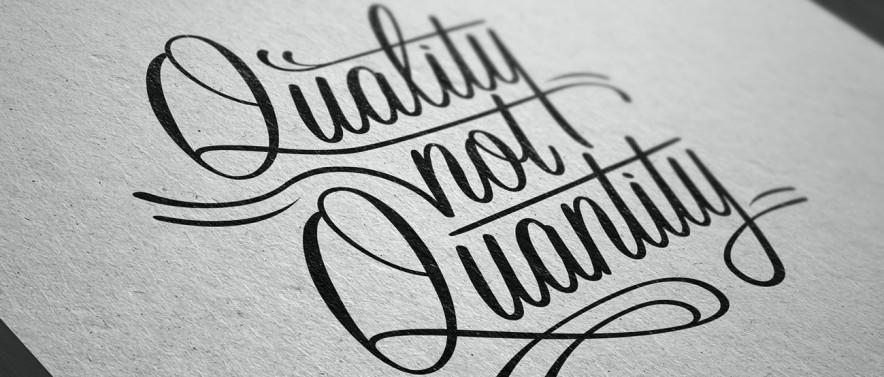 Content advertising quality not quantity