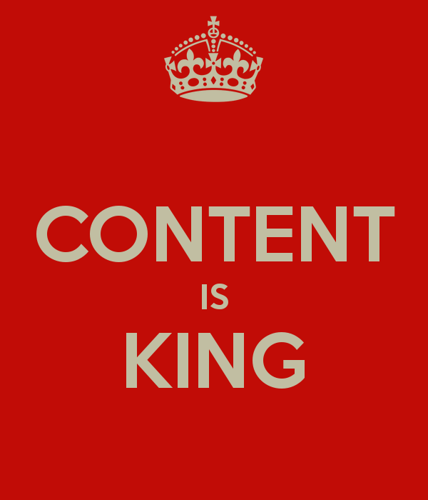 content is king cliche