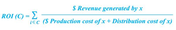 Content marketing analytics ROI formula
