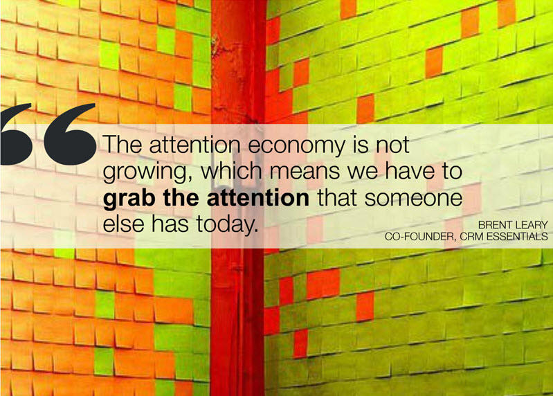 Content marketing challenges attention economy quote