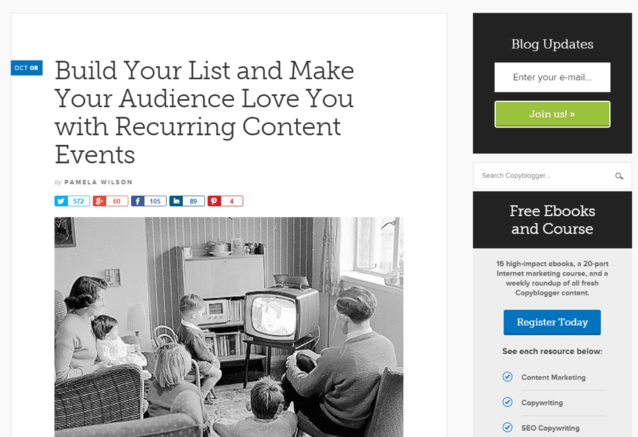 Content marketing tips Copyblogger