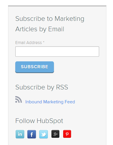 Content marketing tips HubSpot subscription box