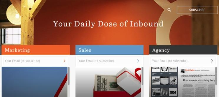 content strategy for the web screenshot of hubspot's blog