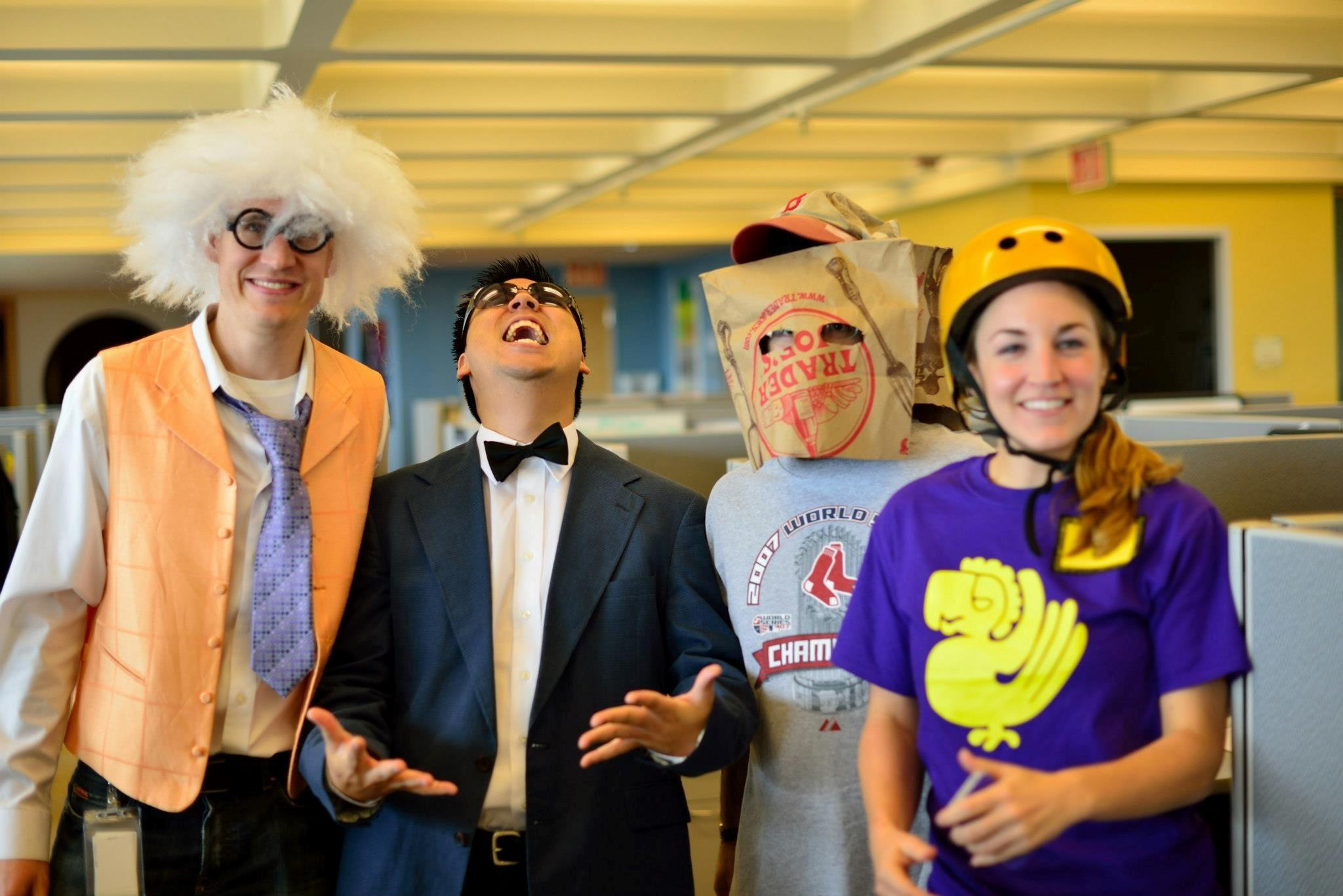 content strategy for the web picture of wordstream employees on halloween