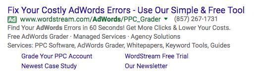 AdWords错误