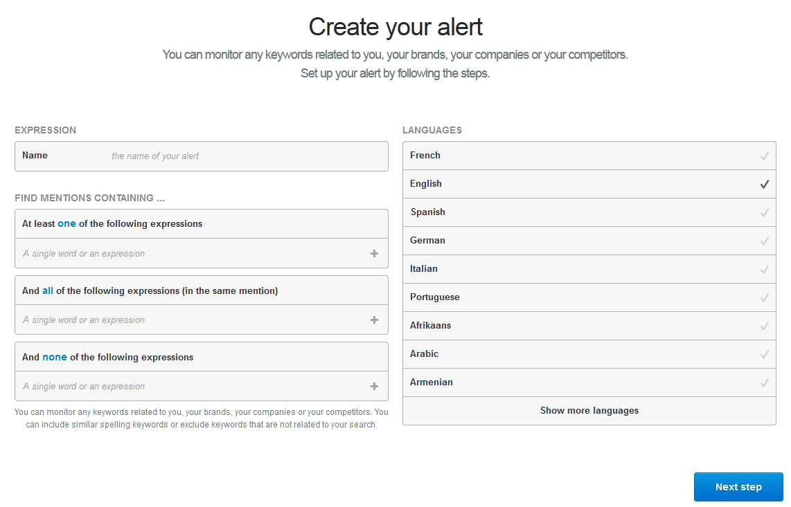 How to Create a Mention Alert