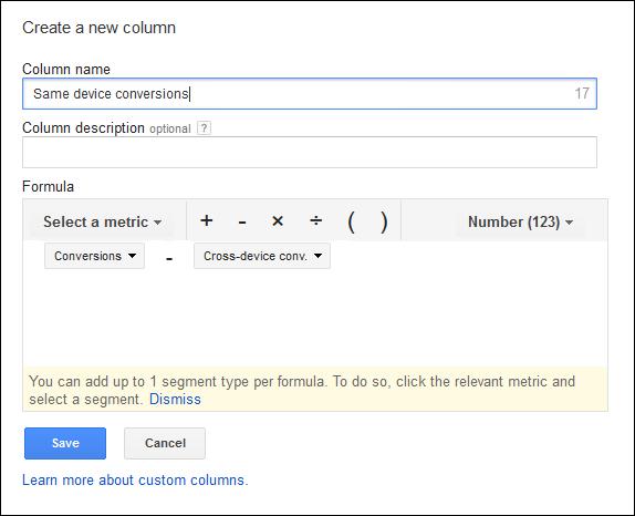 adwords custom column variable