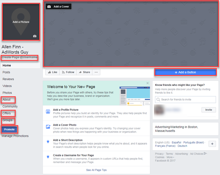 creating a facebook business page is a multistep process