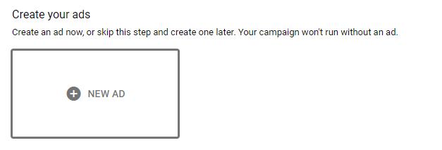 create new gmail ads