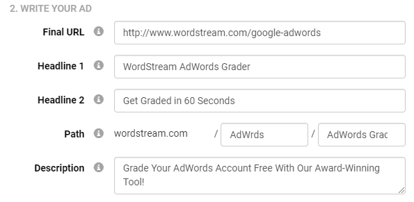 create pay per click ads for adwords with wordstream