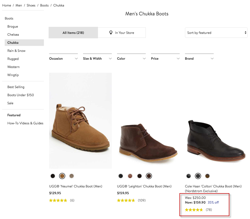 using product attributes to create urgency