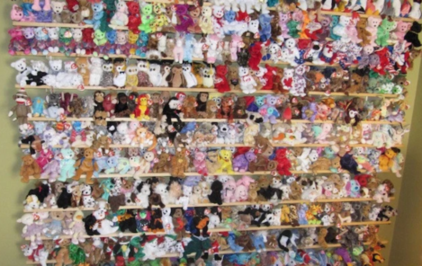 wall of beanie babies
