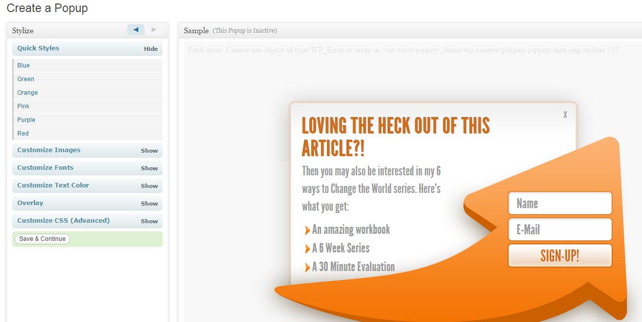 Curata content marketing Pippity conversion tool