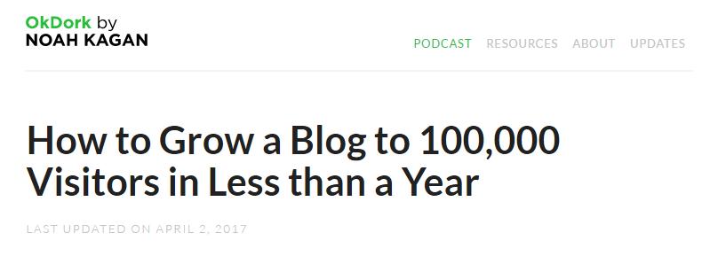 Curiosity gap highly specific headline example