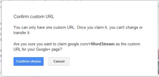 Confirm Google custom url