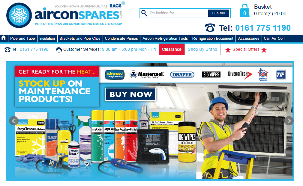 Customer Spotlight Ryan Air Conditioning homepage