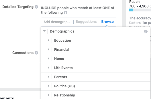 instagram demographic targeting