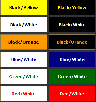 complementary color guide from bannersnack