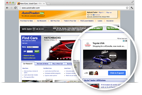 Online advertising Google Display network ad example