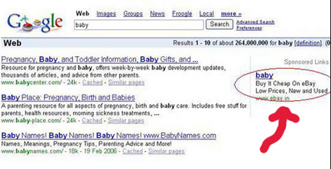 eBay Ads on Google, eBay fails at Google Ads