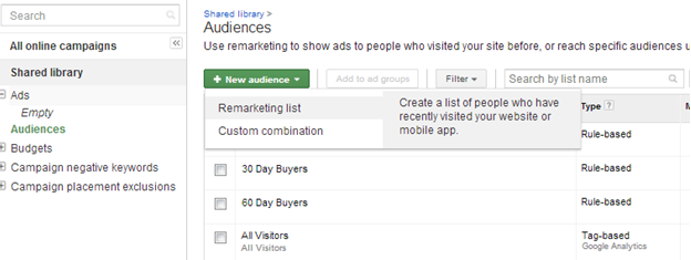 Dynamic Remarketing Audience