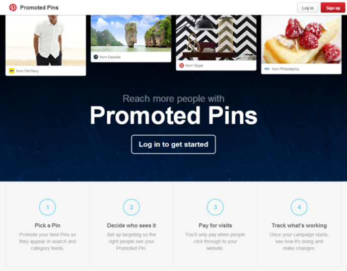 promoted pins feature