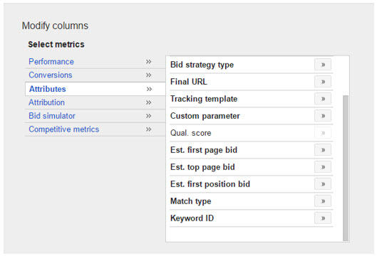 modifying keyword columns