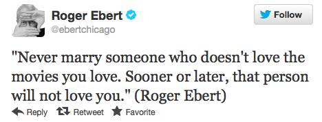 Top Tweets Roger Ebert