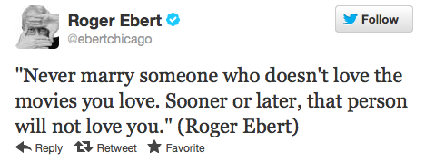 Top Tweets Roger Ebert
