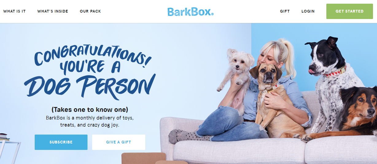 Ecommerce retention Bark Box
