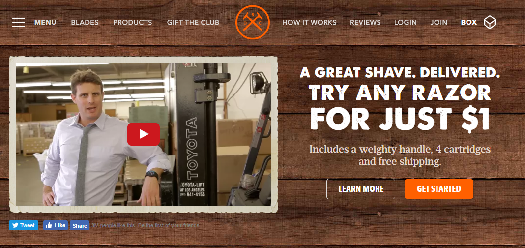 Ecommerce retention Dollar Shave Club launch video