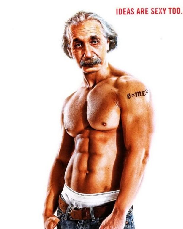 buff picture of einstein
