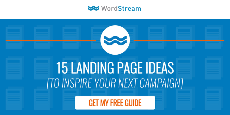 Email optimization landing page example