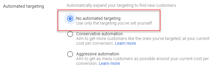 email remarketing gmail ads remove automated targeting