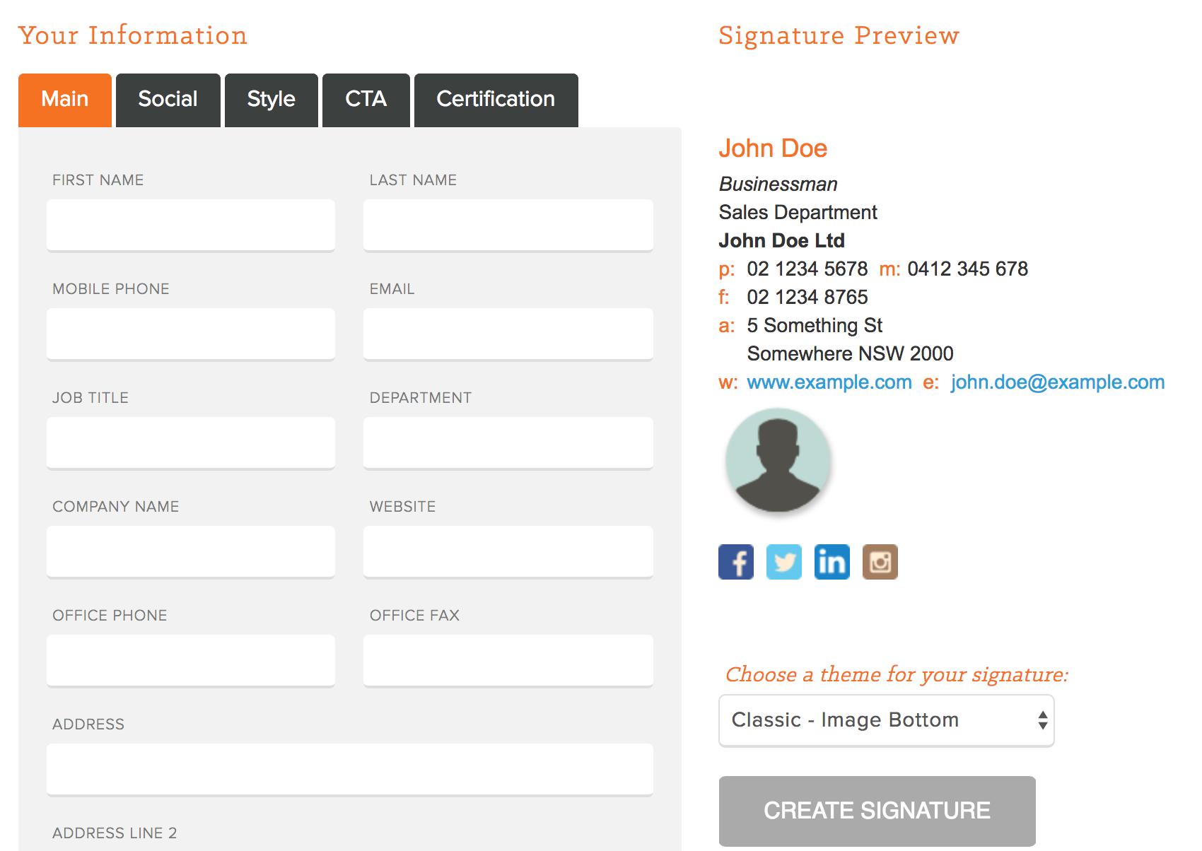 Email signatures HubSpot email signature generator templates