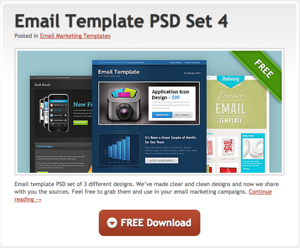 email marketing templates - Free Email Marketing Templates