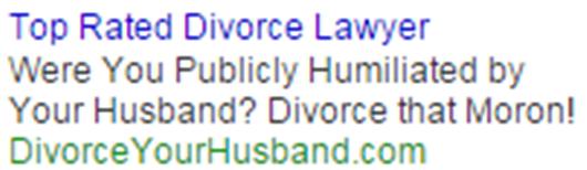 Emotional ads divorce lawyer ad