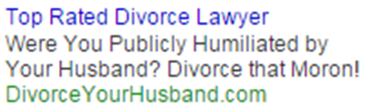 Emotional ads divorce lawyer ad