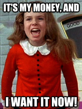 Emotional ads Veruca Salt meme