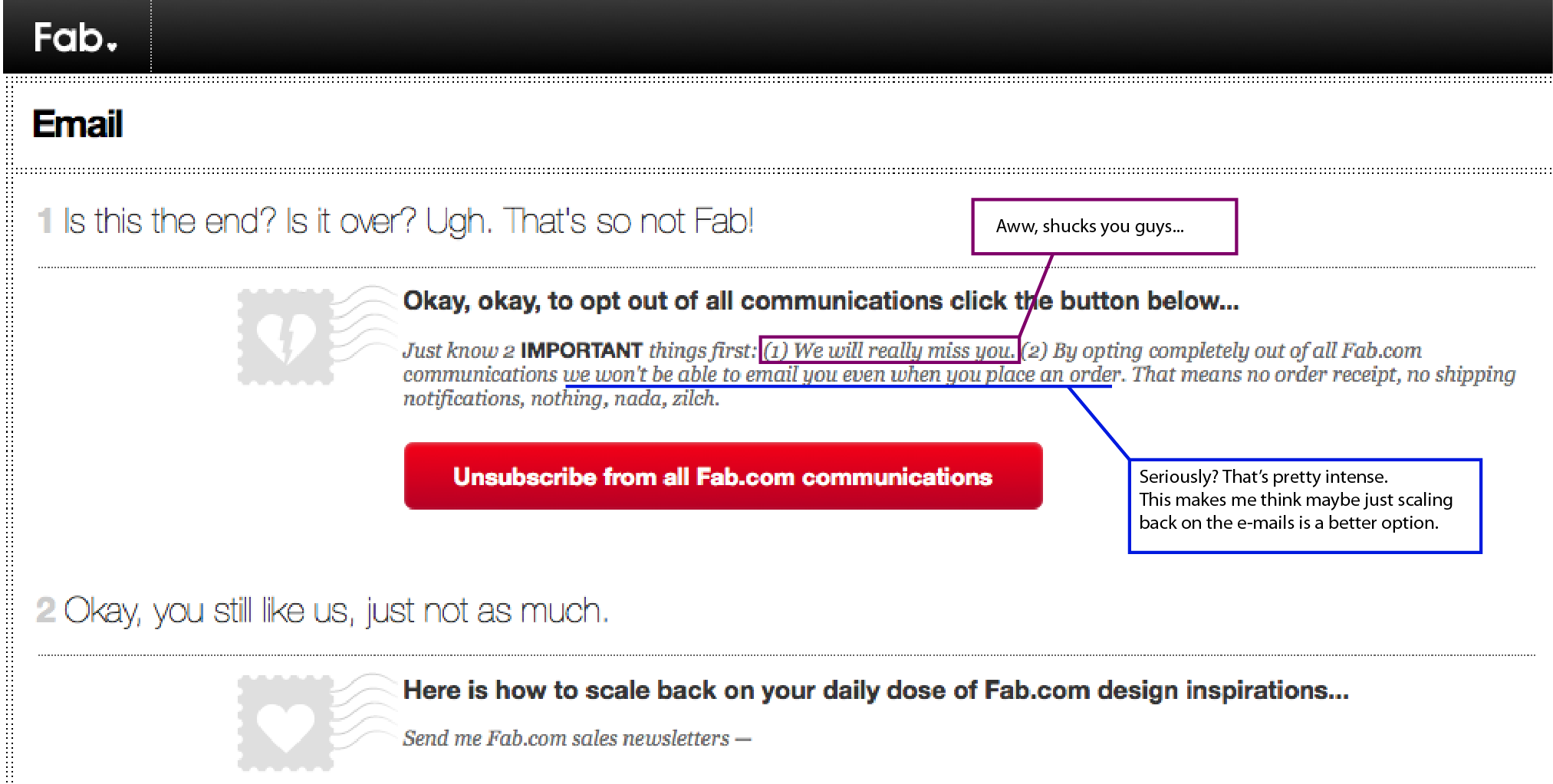 How to stop people from unsubscribing