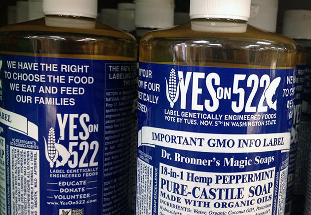 Ethical marketing Dr. Bronner's campaign GMO labeling