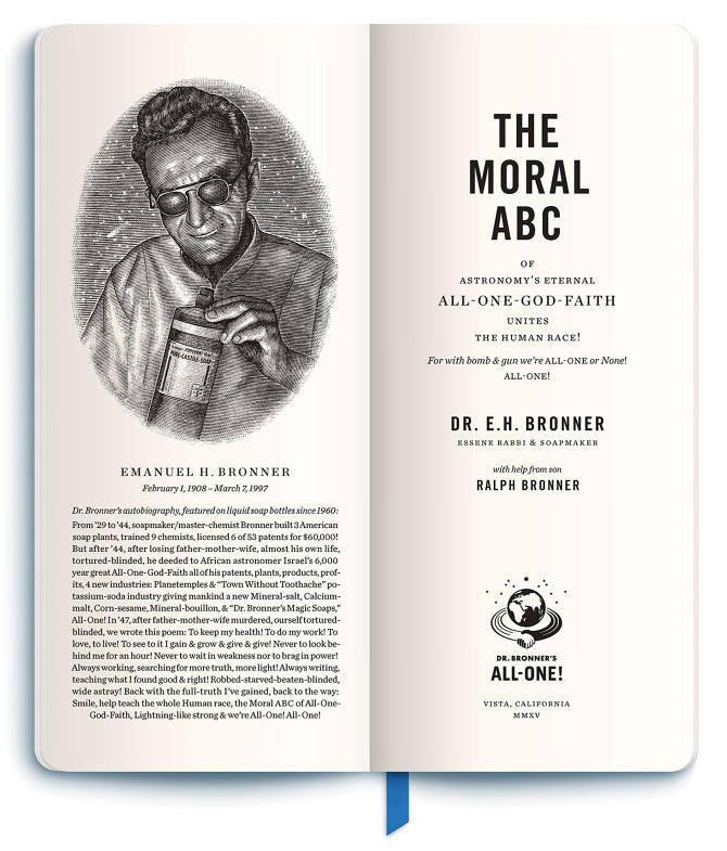 Ethical marketing Dr. Bronner's Moral ABCs