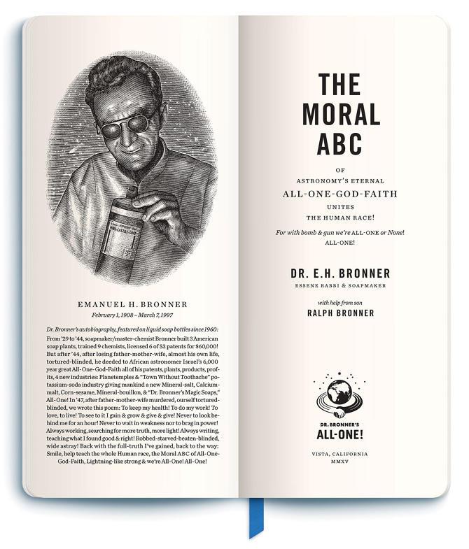 Ethical marketing Dr. Bronner's Moral ABCs