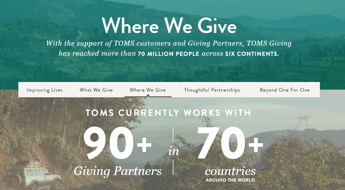 Ethical marketing TOMS shoes philanthropy