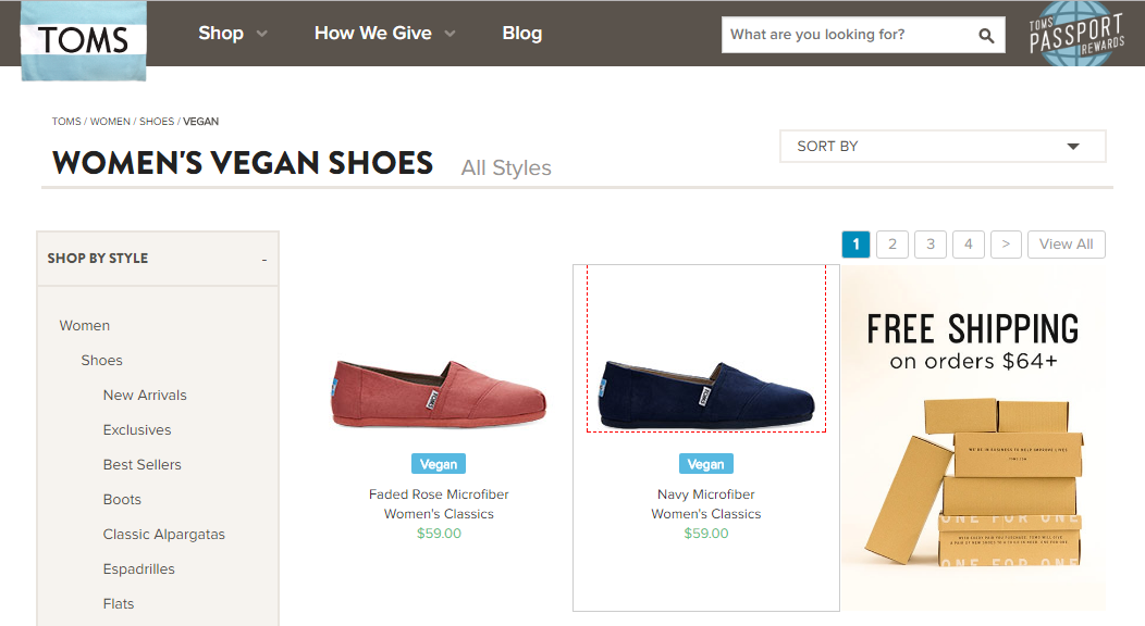 Ethical marketing TOMS shoes