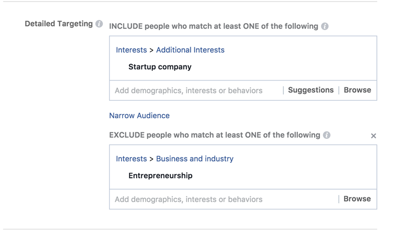 Facebook ad costs audience overlap excluded results