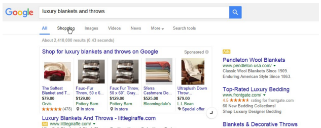 expandable product listing ads