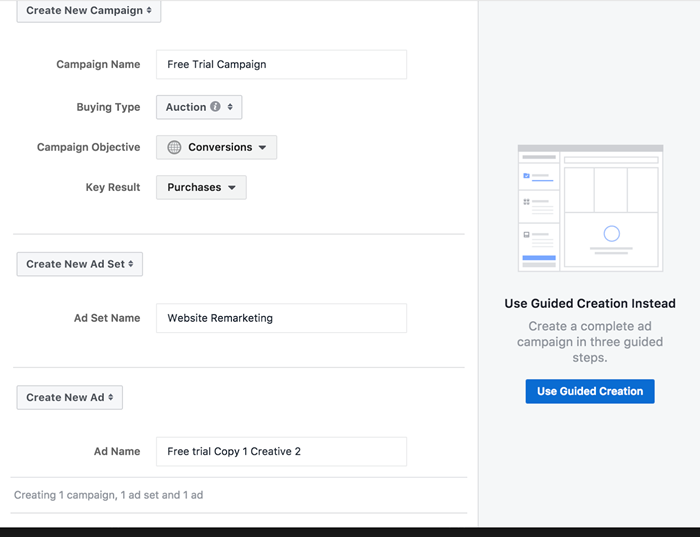 facebook ad account naming conventions example