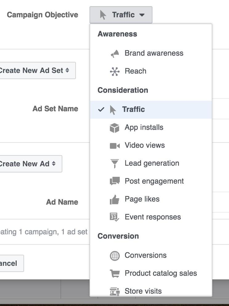 campaign level account structure facebook