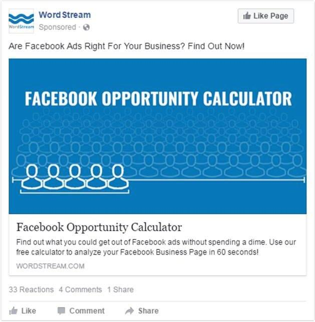 facebook ad value proposition